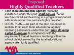 proposed highly qualified teachers