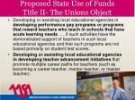 proposed state use of funds title ii the unions object