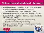 school based medicaid claiming
