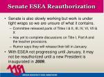 senate esea reauthorization