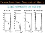 evans function numerical study48
