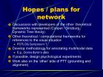 hopes plans for network