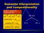 semantic interpretation and compositionality