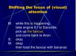 shifting the focus of visual attention