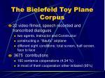 the bielefeld toy plane corpus