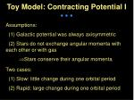 toy model contracting potential i