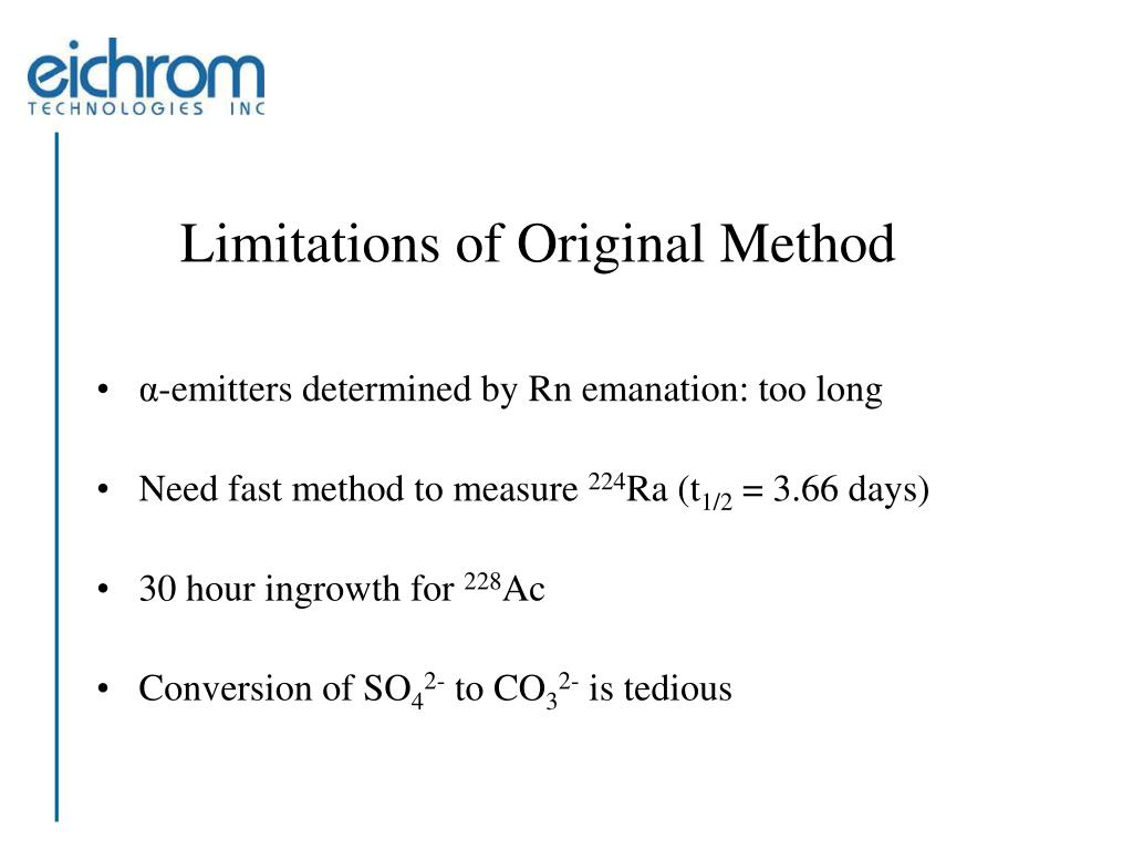 Limitations of Original Method