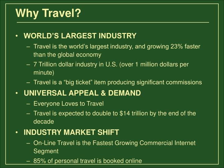 WORLD'S LARGEST INDUSTRY