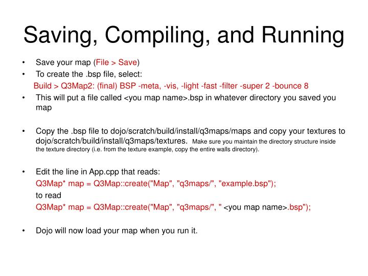 Saving, Compiling, and Running