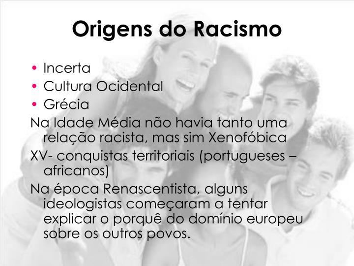 Origens do Racismo