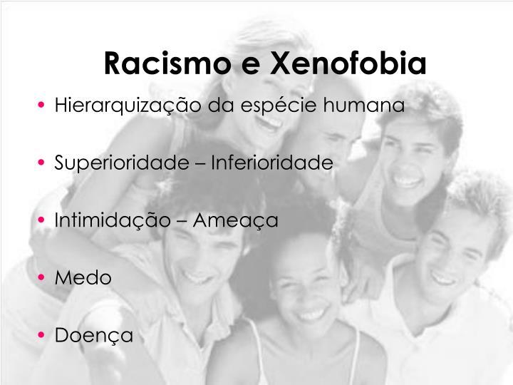 Racismo e xenofobia1