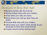 strategies to keep kids safe