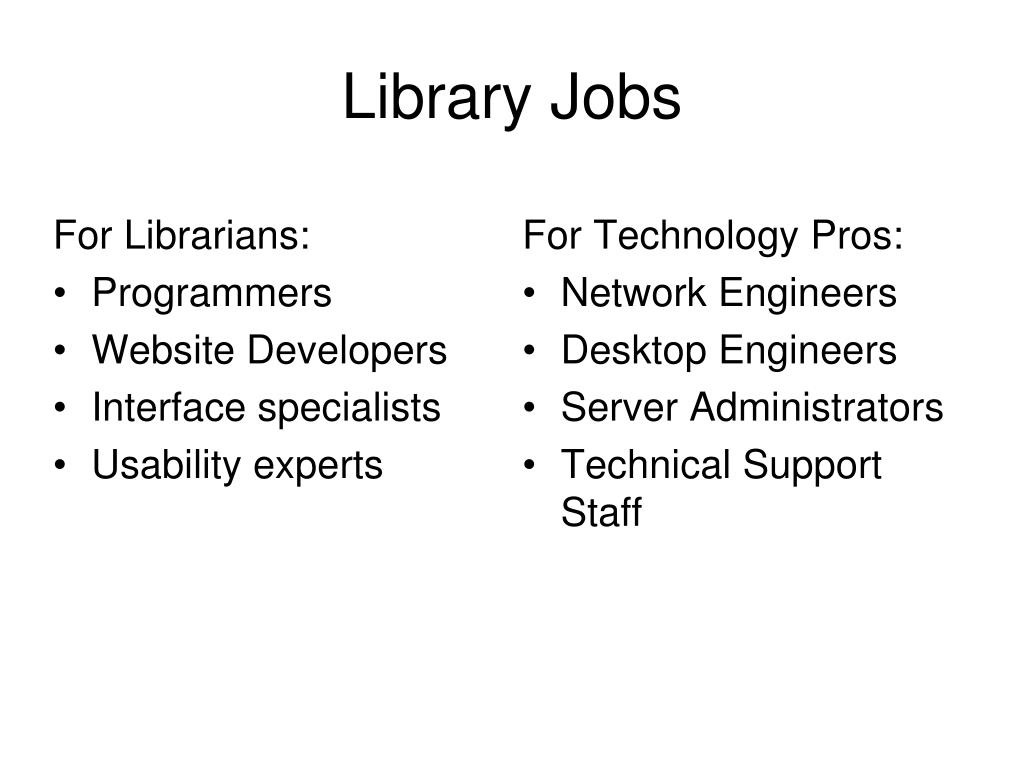 For Librarians: