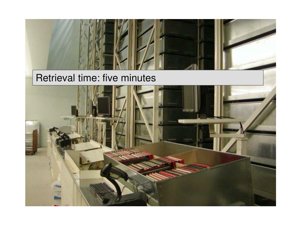 Retrieval time: five minutes