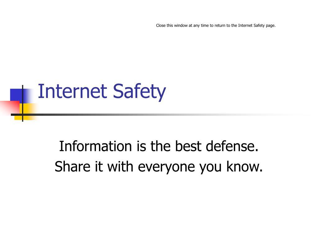 internet safety l.