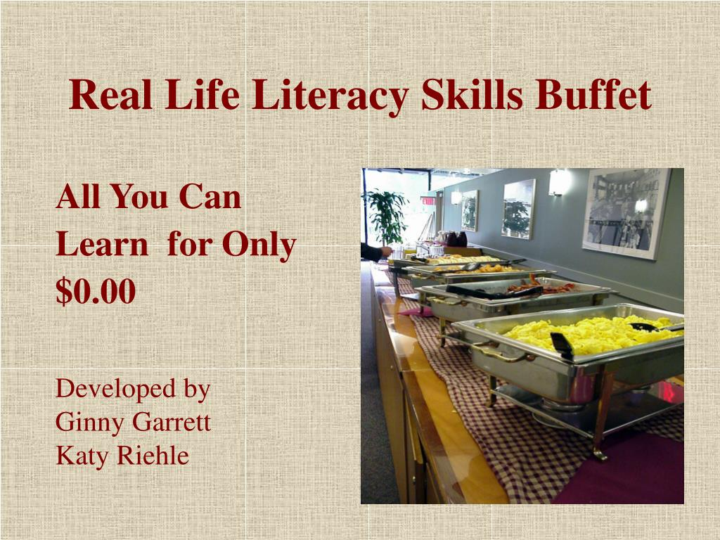 real life literacy skills buffet l.