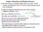 angles of rotation and radian measure