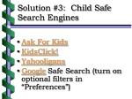 solution 3 child safe search engines