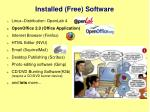 installed free software