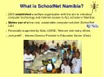 what is schoolnet namibia