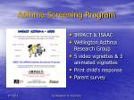 asthma screening program