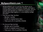 myspacewatch com 12