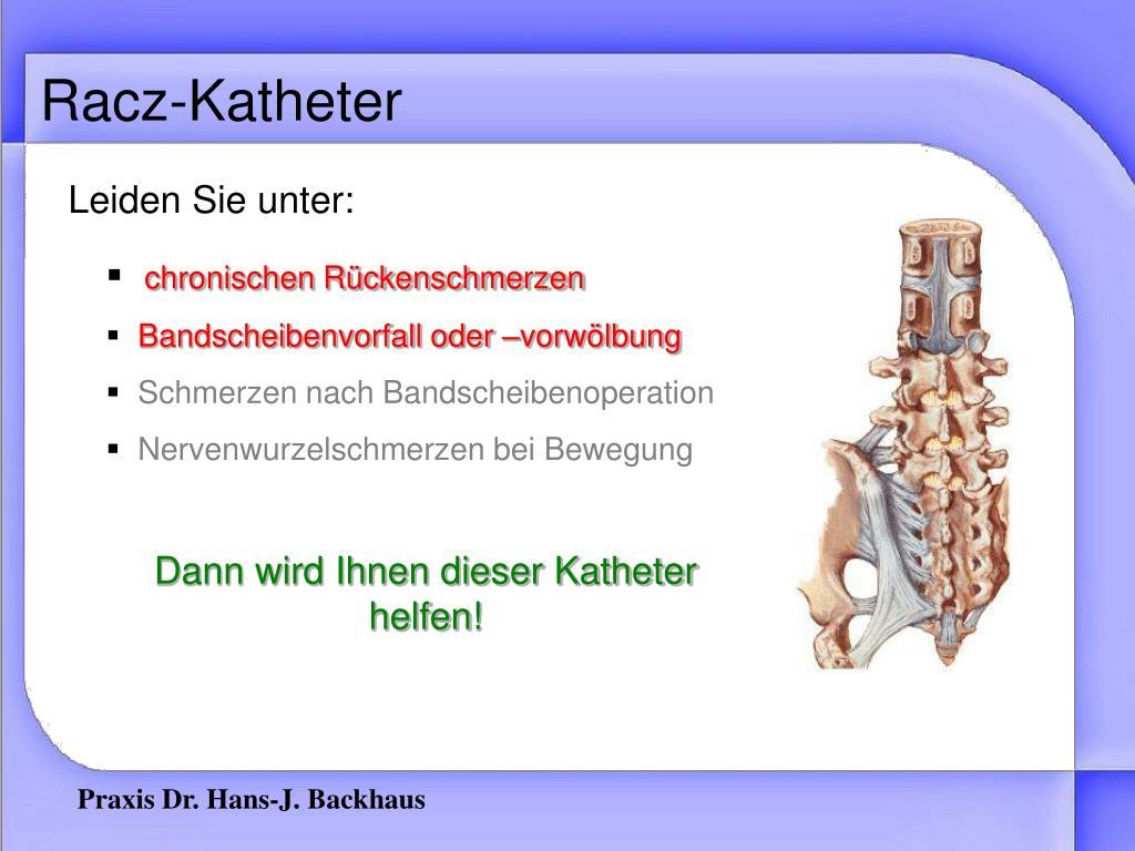 Bauchdeckenkatheter schmerzen