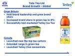 tata tea ltd brand growth global