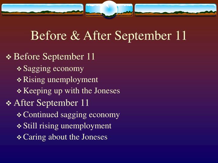 Before after september 11