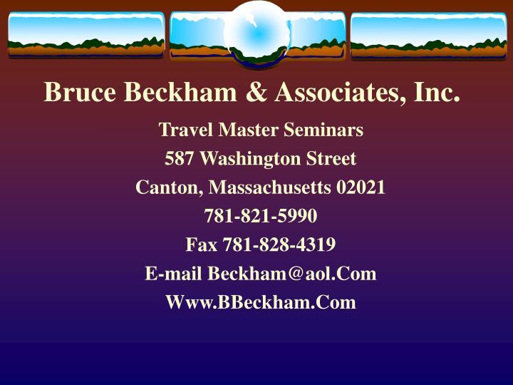 Bruce Beckham & Associates, Inc