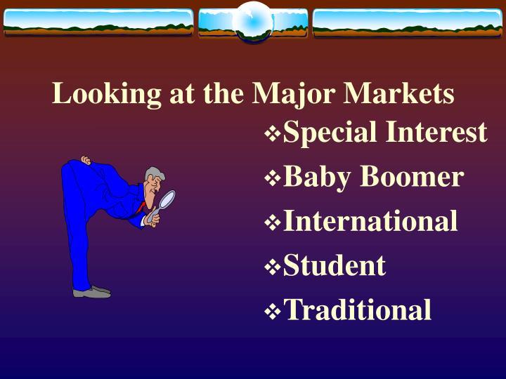 Looking at the Major Markets