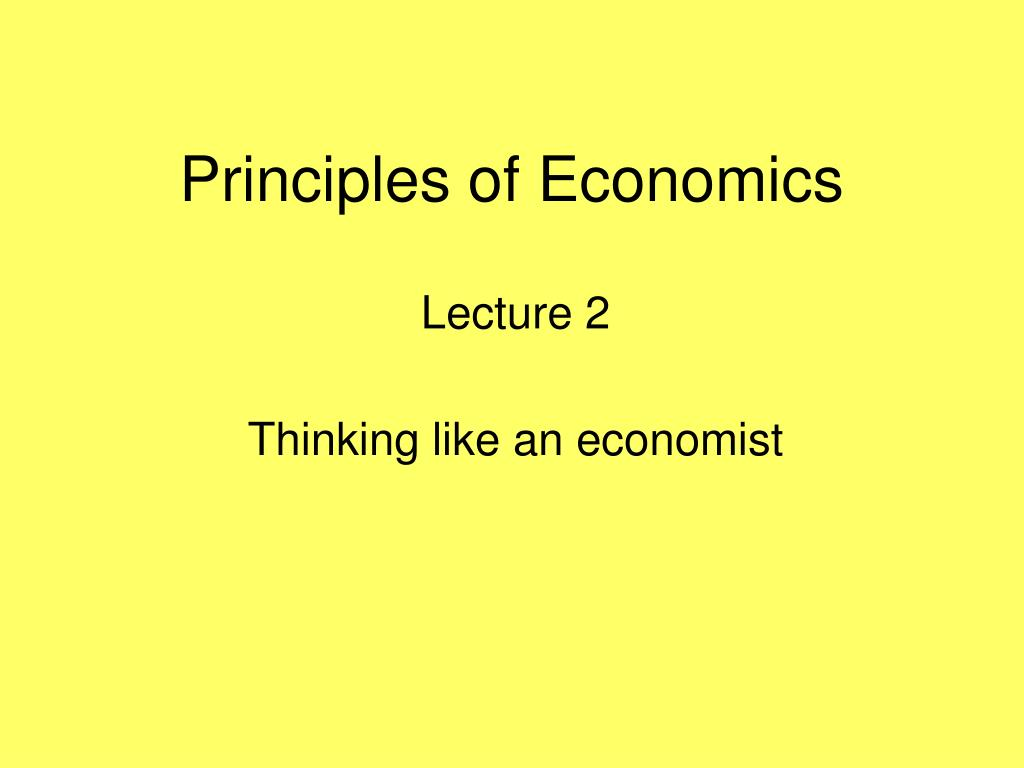 principles of economics l.