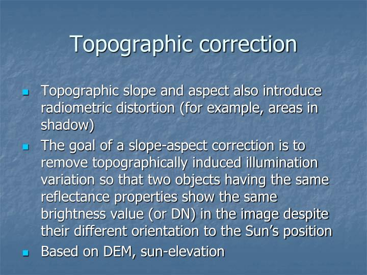 Topographic correction