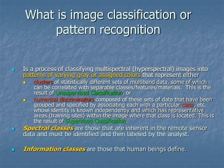 What is image classification or