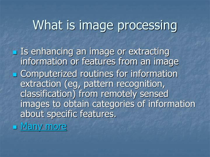What is image processing