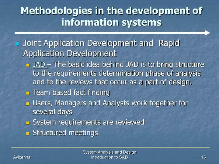 an introduction to the analysis of the development The analysis phase defines the requirements of the system, independent of how these requirements will be accomplished this phase defines the problem that the customer is trying to solve the deliverable result at the end of this phase is a requirement document ideally, this document states in a .