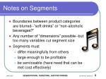 notes on segments