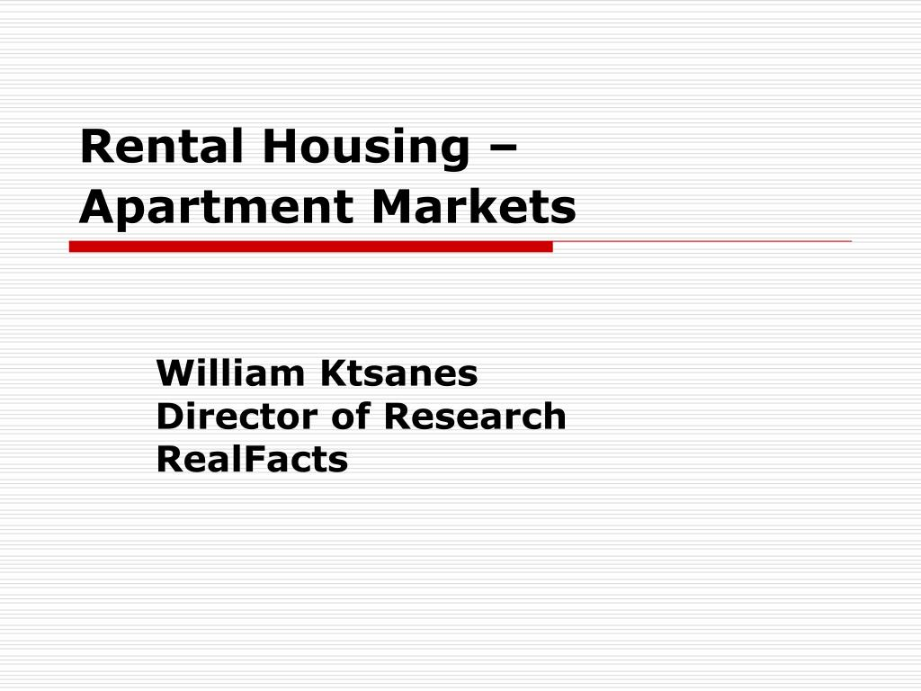 rental housing apartment markets l.