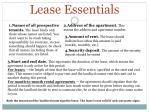 lease essentials