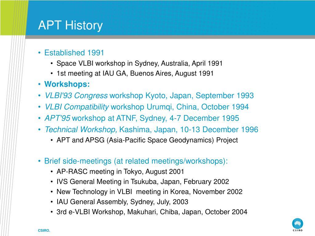 APT History