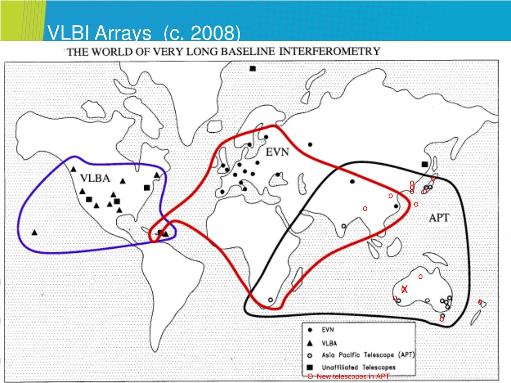 VLBI Arrays  (c. 2008)