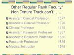 other regular rank faculty non tenure track con t