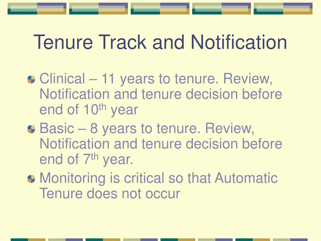 Tenure Track and Notification