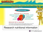 research nutritional information
