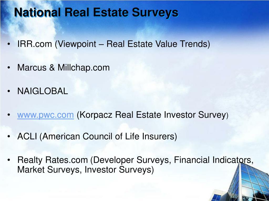 National Real Estate Surveys