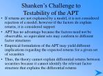 shanken s challenge to testability of the apt