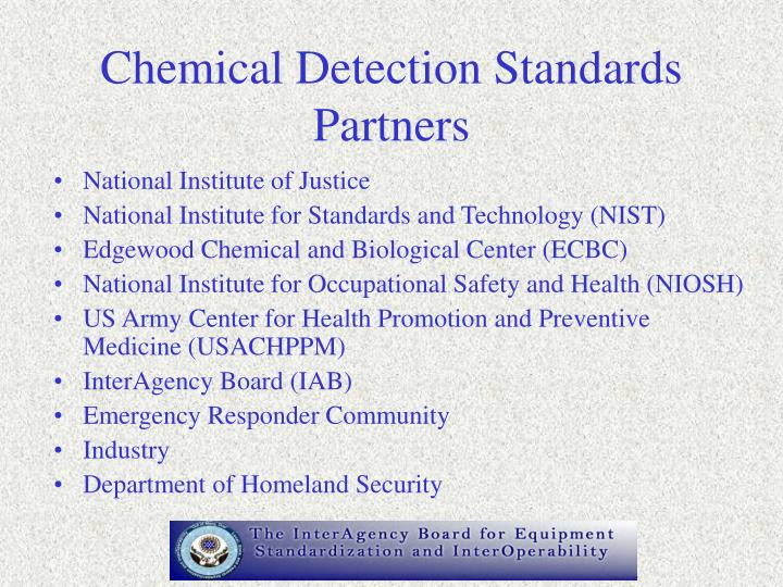Chemical Detection Standards Partners