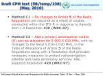 draft cpm text 5b temp 238 may 2010