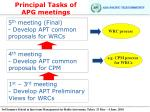 principal tasks of apg meetings