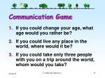 communication game